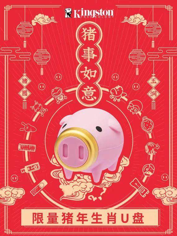 Kingston 2019 Chinese New Year of Pig 64GB USB 3.1 CNY Flash Drive/Pendrive (LIMITED EDITION) READY STOCK