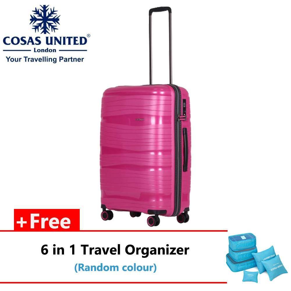 "(Bundle) Cosas United Inspirit Series 68cm/24"" Luggage + 6 in 1 Travel Organizer"
