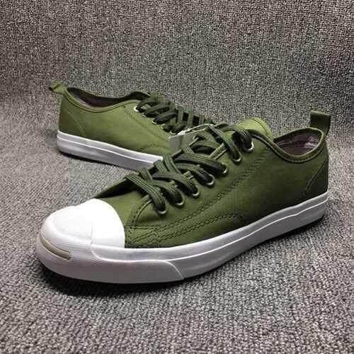 การใช้งาน  ลำพูน ใหม่สไตล์ Converse Unisex ข้อต่ำ JACK Purcell x Hancock รองเท้าผ้าใบสีเขียวทหาร