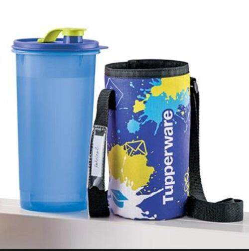 tupperware 1.5L high handolier tumbler in blue - with pouch (1)