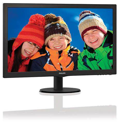 Philips 273V5LHAB 27 inch TFT LCD Monitor FHD 1080p LCD Display 5ms Built-in Speaker VGA DVI HDMI VESA 100 x 100 27inch