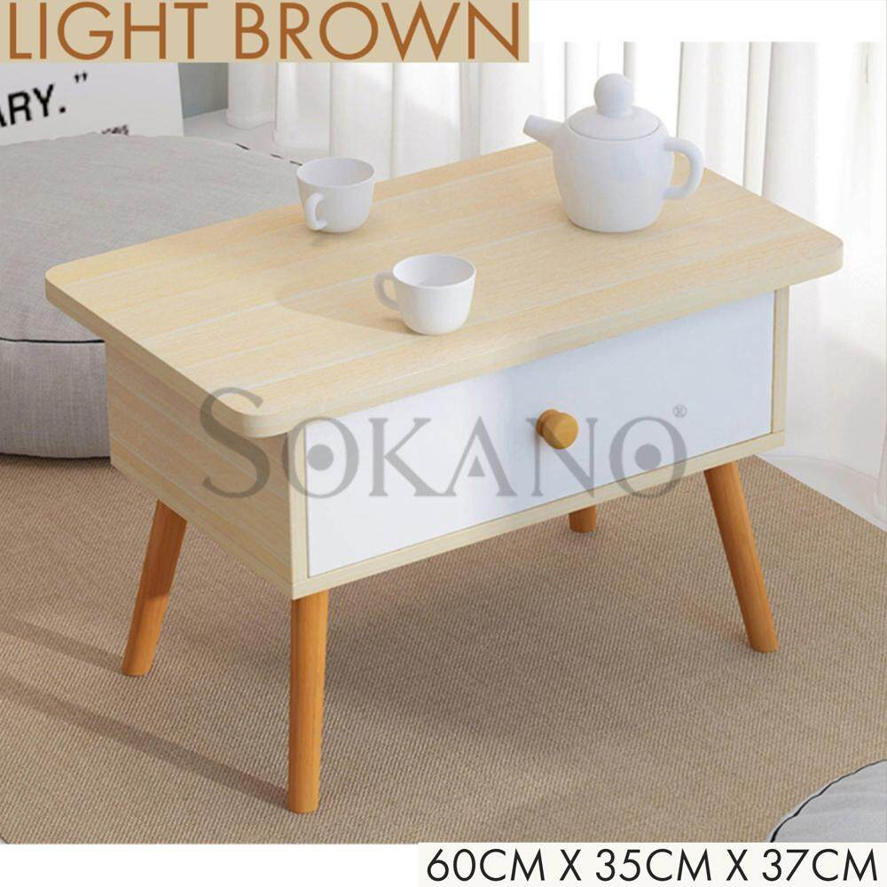 SOKANO N81 Premium Wooden Bed Beside Table Coffee Table Sofa Side Table with Drawer