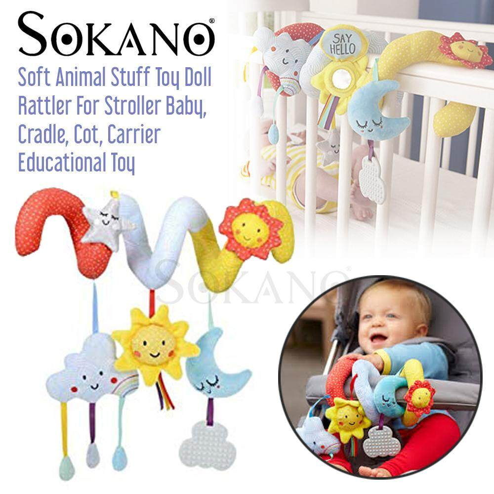Sokano V01 Mom and Baby Soft Animal Stuff Toy Doll Rattler For Stroller Baby, Cradle, Cot, Carrier Educational Toy 0 Months above