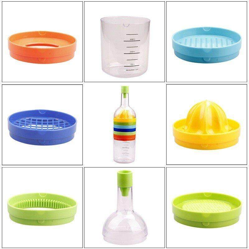 8 In 1 Kitchen Kits Bin 8 Multi Kitchen Kit Gadget Tool - Juices, Strains, Grates