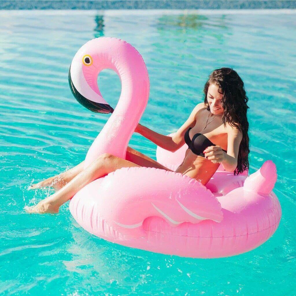 [190CM] Inflatable Giant Pink Flamingo/Unicorn Swimming Pool Float **FREE Intex Air Pump (Local Seller)