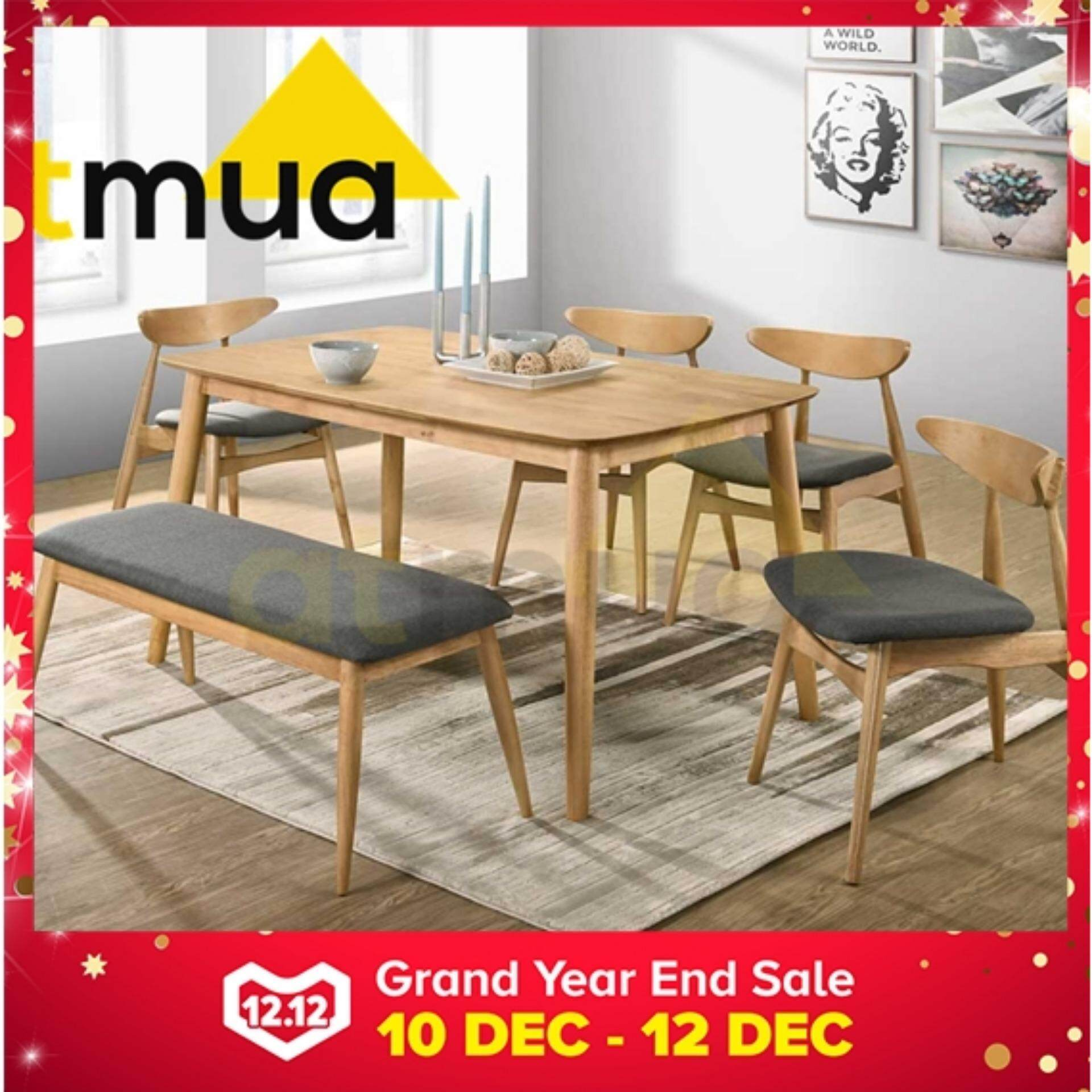 Atmua Borato Dining Chair (2 Unit) [Solid Wood] 3 Colour Available **Dining Chair ONLY