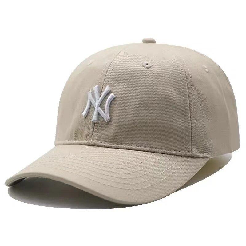 Mũ MLB Mũ Bóng Chày Tiêu Chuẩn Nhỏ Cho Nam NY Yankees Màu Xanh Dương Đỉnh Mềm Mũ Mùa Hè Vành Cong Cho Nữ Yn