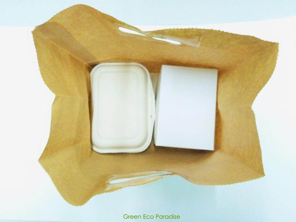 Paper Bag with Die-cut Handle [Brown] 100 pieces