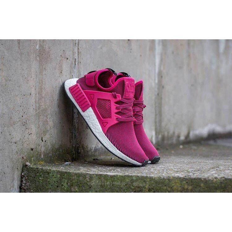 สอนใช้งาน  พิจิตร รองเท้า Adidas NMD XR1 W  UNITY สีชมพู/CORE ดำ