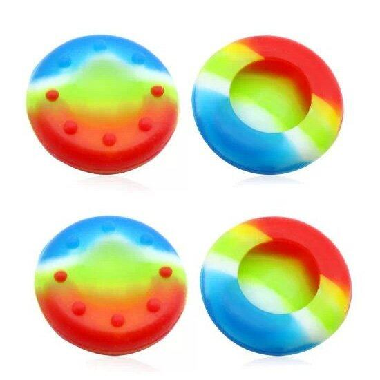 4Pcs Silicone Analog Grips Thumb stick handle caps Cover For Sony Playstation 4 PS4 PS3 Xbox Controllers (Colorful)