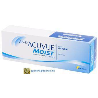 Harga 1-DAY ACUVUE MOIST Contact Lenses *-1.00 (30 lenses/box)