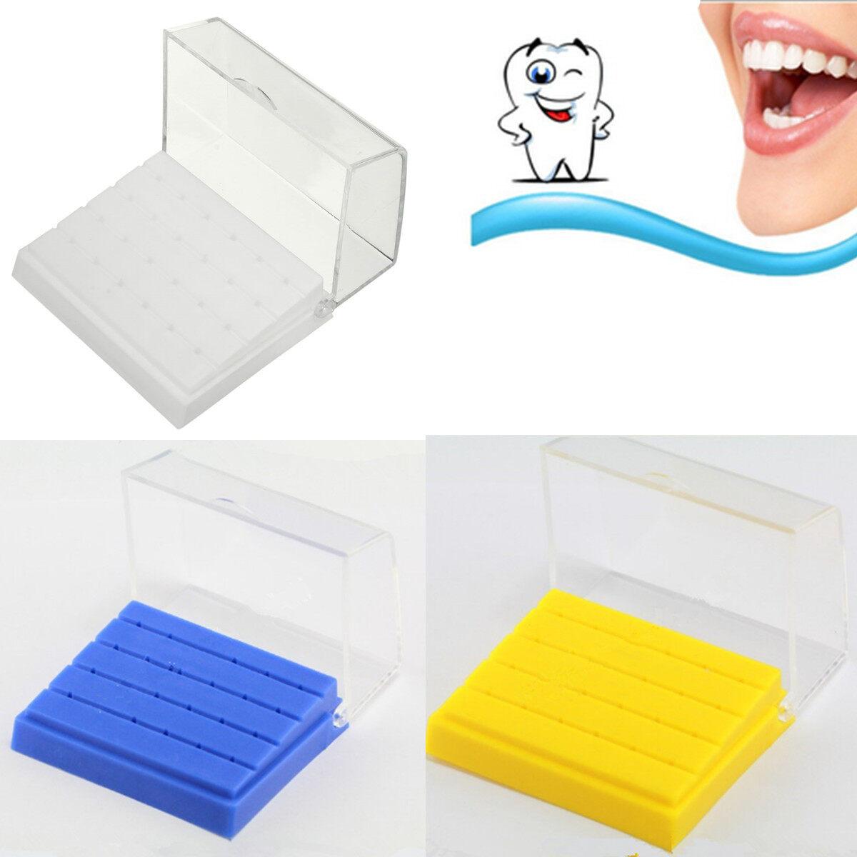 1 x Dental Plastic Bur Holder Burs Block Case Box 24 Holes Burs .
