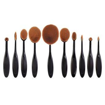 10pcs Makeup Oval Brushes