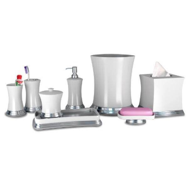 Nu Steel Sag Harbor Collection Bathroom Accessories Set 8 Piece Thumbnail 1