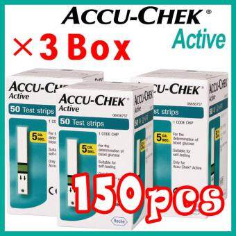 Harga ?150pcs? 05 / 2018 or later Roche Accu Chek Active Test Strips (50Tx3 Box)