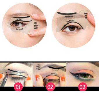 features 2pcs women cat line pro eye makeup tool eyeliner stencils
