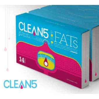 Harga 2 Boxes Clean5 (FREE Eye Mask) No More Fats OXYO2 Premium QualityUSA Formulated