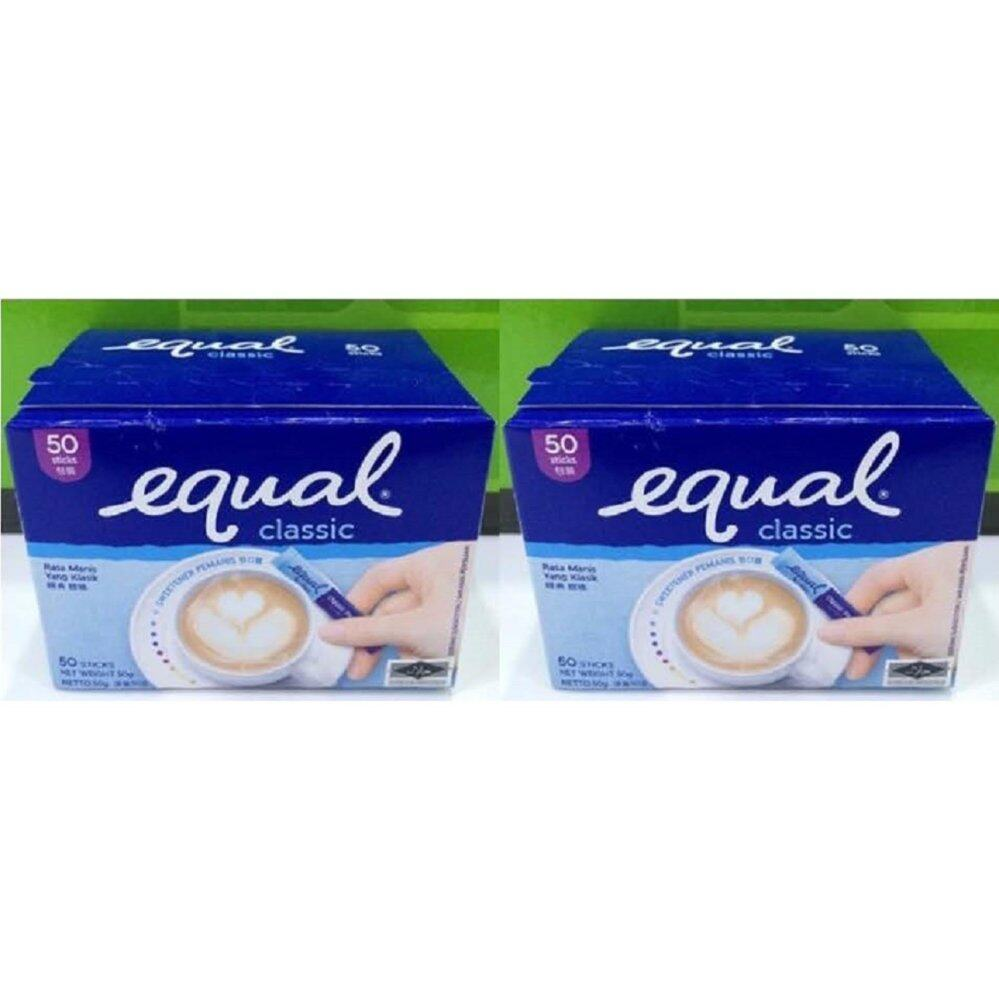 2 Boxes Equal Classic Sweetener Sachets (50's/ pack) - Suitable for Diabetes