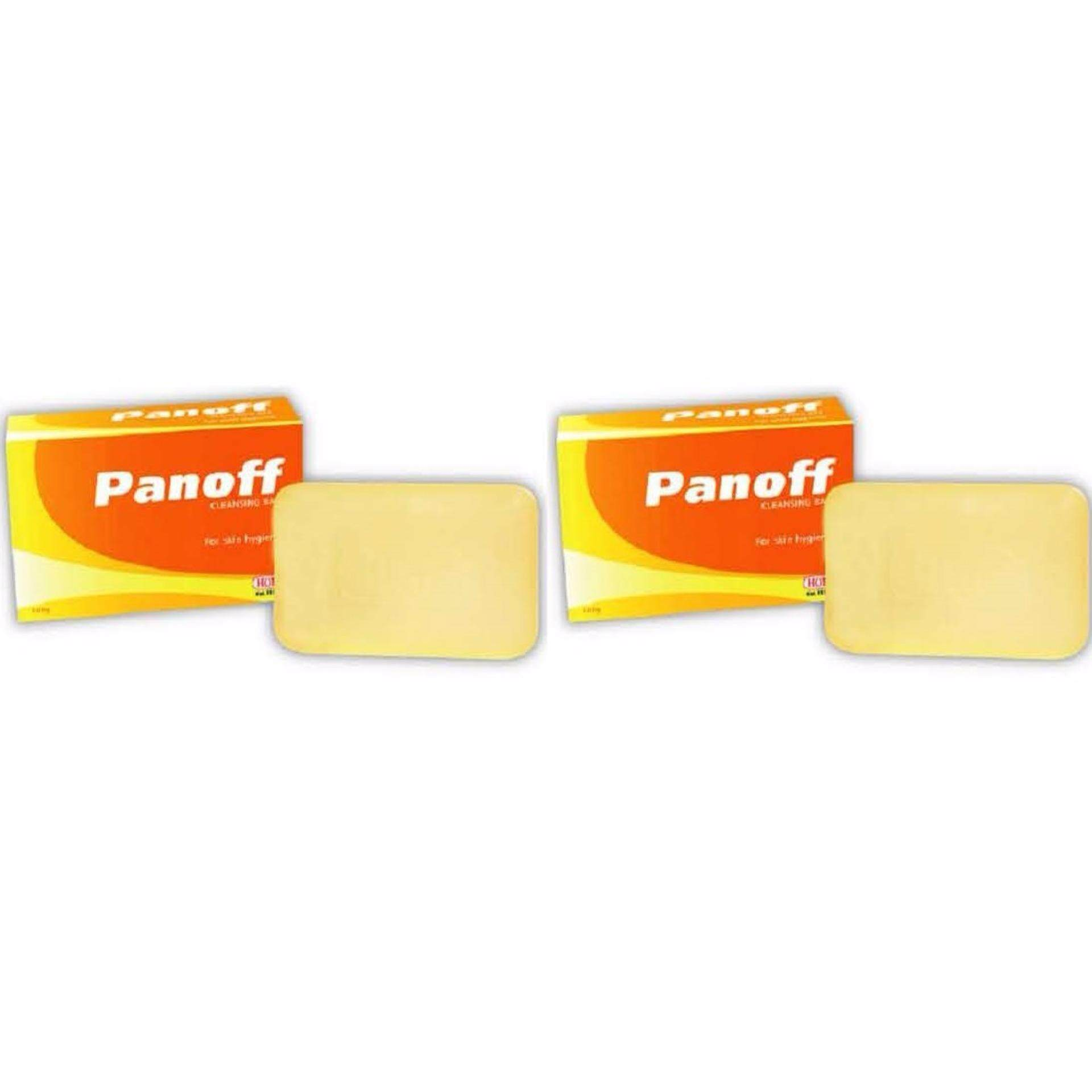 2 ea Panoff cleansing sulfur soap bar for fungal skin daily use (100g)