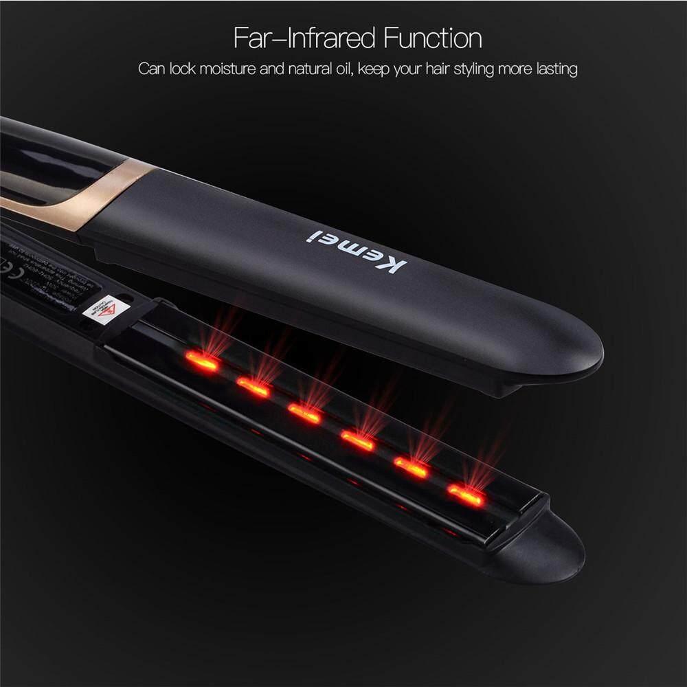 Cek Harga Baru 2 In 1 Far Infrared Hair Straightener Flat Iron Curl Catokan Styler Rotating Curler Curling Professional Tourmaline