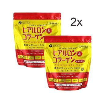 2 x Japan Fine Hyaluron & Collagen+Q10 Powder (2x refill 210g) Expiry: 4.2019