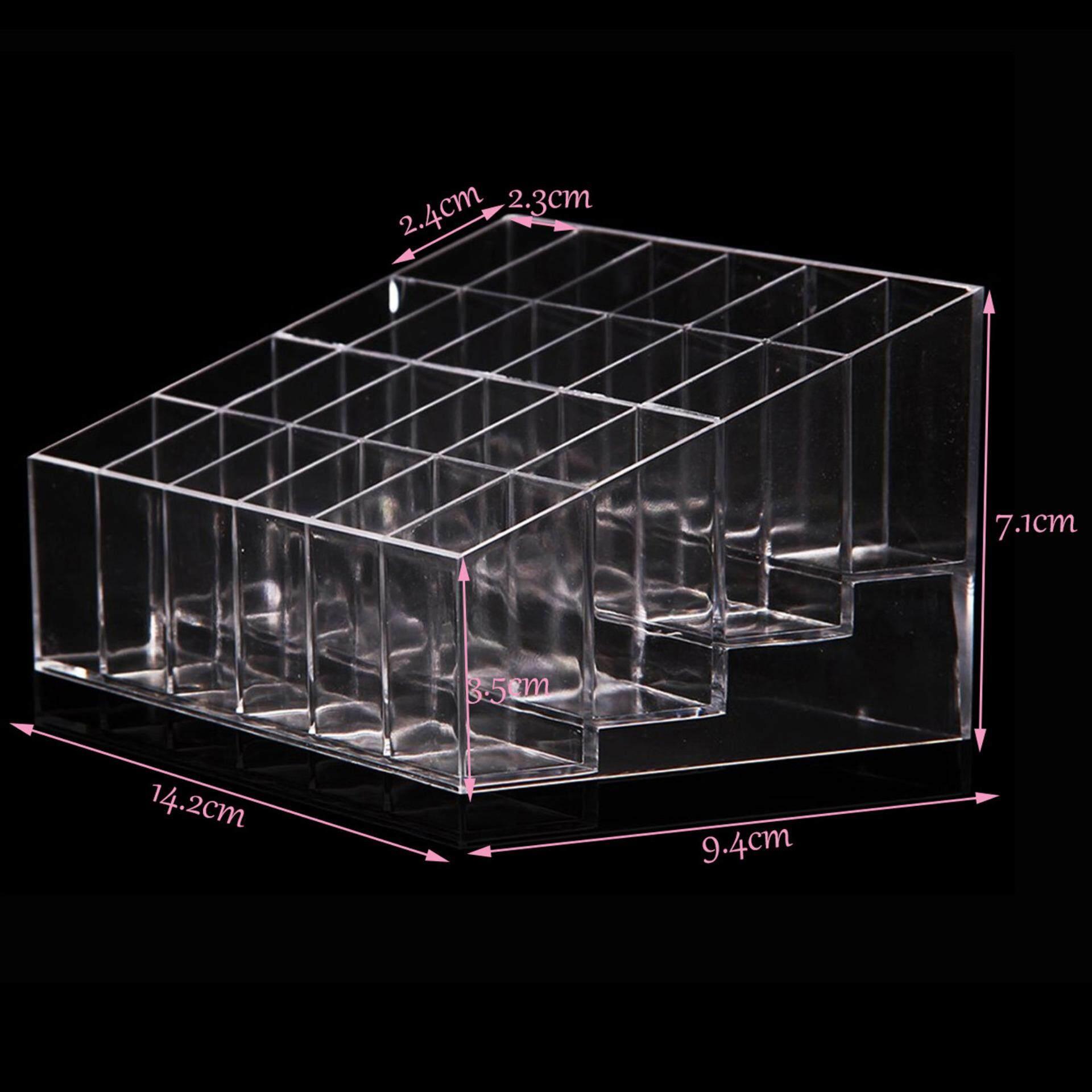 Cek Harga Baru 24 Lipstik Pemegang Kosmetik Rak Pajangan Organizer Desktop Storage Rotate Kotak Kuas Make Up Kutek Kasus Modern Clear Akrilik Kontainer Internasional