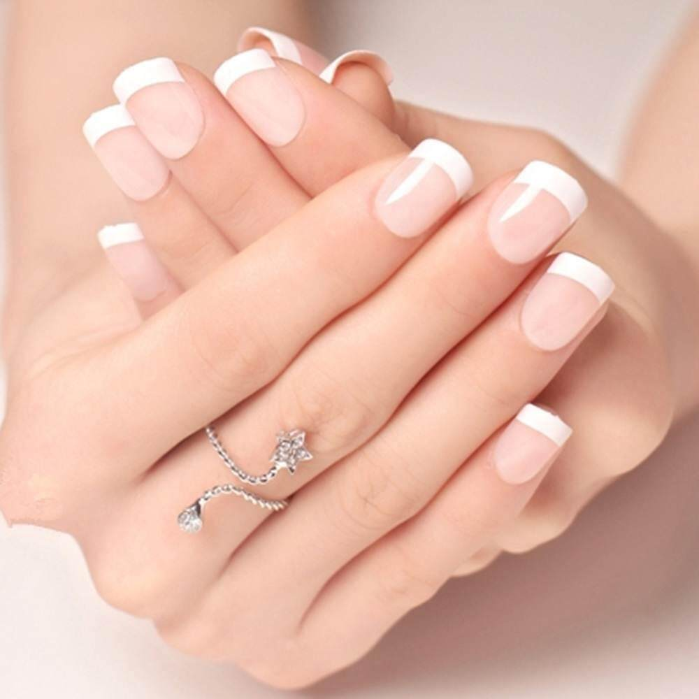 24 Buah French Nail Art Kuku Palsu Akrilik Tips Lengkap Merah Gelap Jbs Nails A61 3d Nikah Wedding False Fake Nailart Source Pcs Alam Perancis Pendek Penuh Buatan Ongles