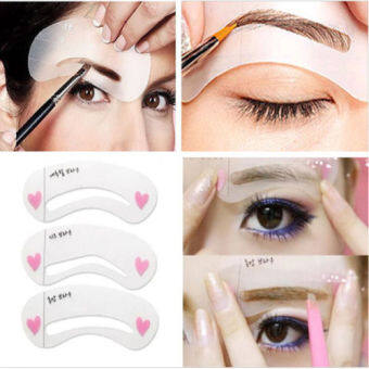 3 styles reusable Eyebrow stencil pencil for eyebrows enhancerdrawing guide card brow template DIY make up tools