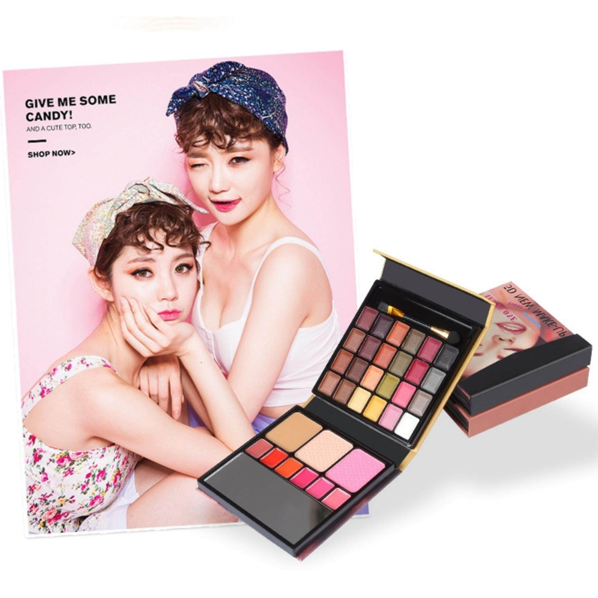 30 Colours Matte Luminous Palette Cosmetic Glitter Eye Shadow Colorful Smoky Eye shadow Palette Foundation Lip Stick Set Makeup