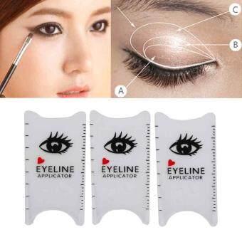 Cat Eye Template | Fitur 3pcs Profession Cat Eyeliner Eye Template Shaper Model