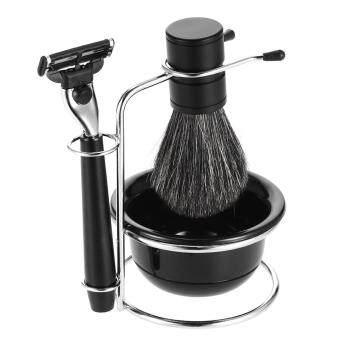 Review Zy Men Classic Shaving Kit Pure Badger Hair Brush