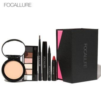 Harga 6Pcs Makup Tool Kit Cosmetics Eyeshadow Lipstick eyeliner MascaraEyebrow Pencil Pressed Powder with Cosmetics Box