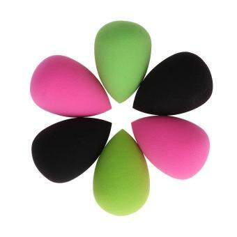 Harga 6pcs Women Beauty Flawless Makeup Blend Powder Sponge Blender