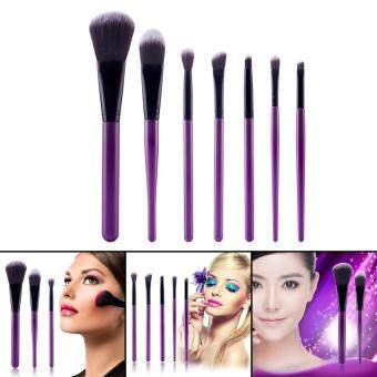 7PCs Makeup Brushes Set (Purple Black)