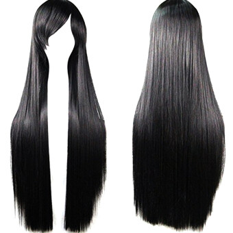 sell 80 cm cosplay long straight hair extensions wig for masquerade party halloween christmas. Black Bedroom Furniture Sets. Home Design Ideas
