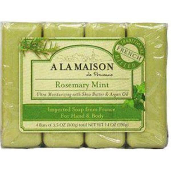 A La Maison - Bar Soap,Rsmry Mint,Value, 1 x 4 CT - intl