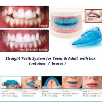 A retainer + Box Orthodontic Straight Teeth for Teens & Adult(Blue)
