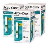 ACCU-CHEK ACTIVE BLOOD GLUCOSE STRIPS 25s x 3