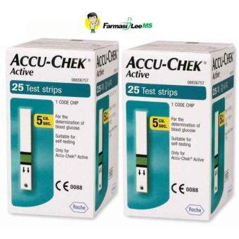 Harga Accu-Chek Active Glucose Strips 25s -2 bottles (Exp 09/2018)