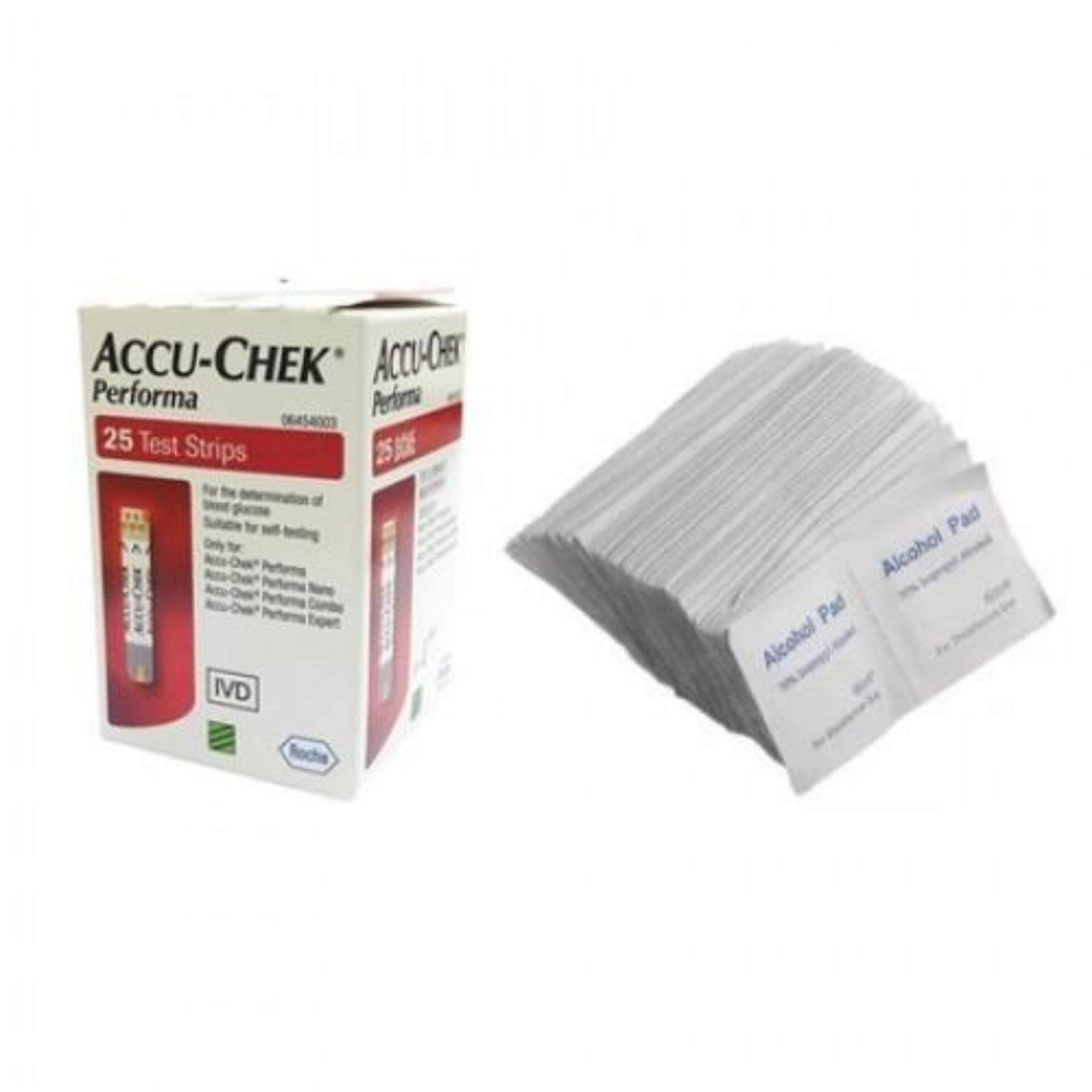 ACCU-CHEK PERFORMA BLOOD GLUCOSE STRIPS 25s X 2 + ALCOHOL SWABS_x000D_ 200s