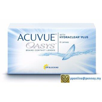 Harga Acuvue - Oasys 2-WEEK with Hydraclear Plus Contact Lenses *-3.50 (6lenses/box)
