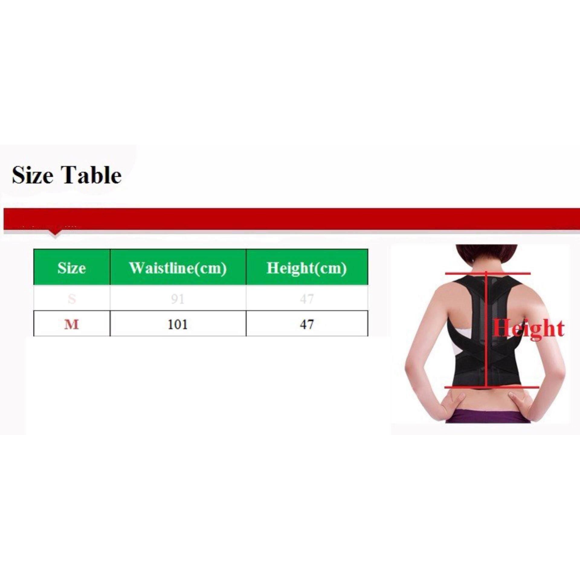 Adjustable Back Brace Posture Corrector Back Support Shoulder Belt Men-Medium