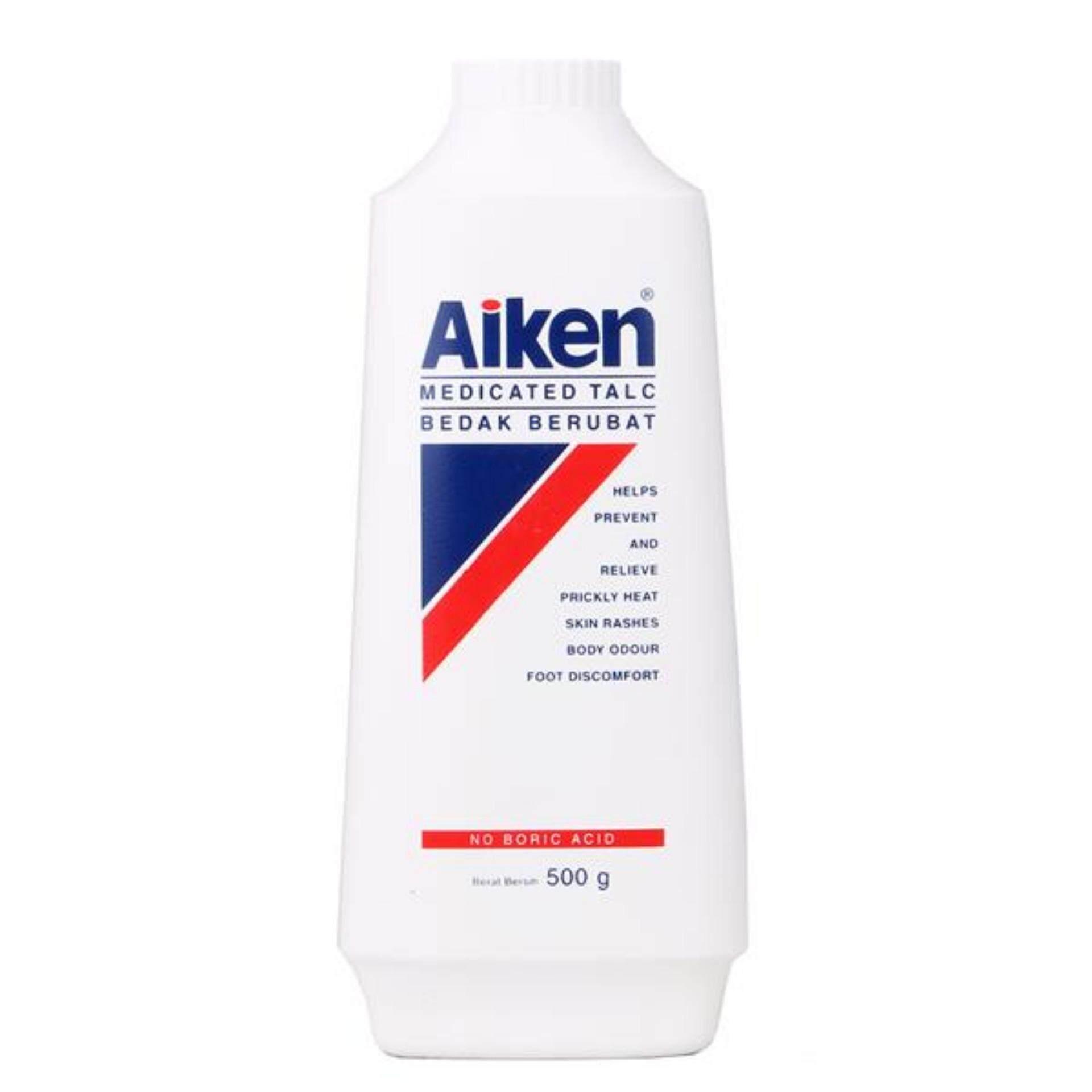 Aiken Medicated Talc 300g, for Heat Rash & Prickly Heat