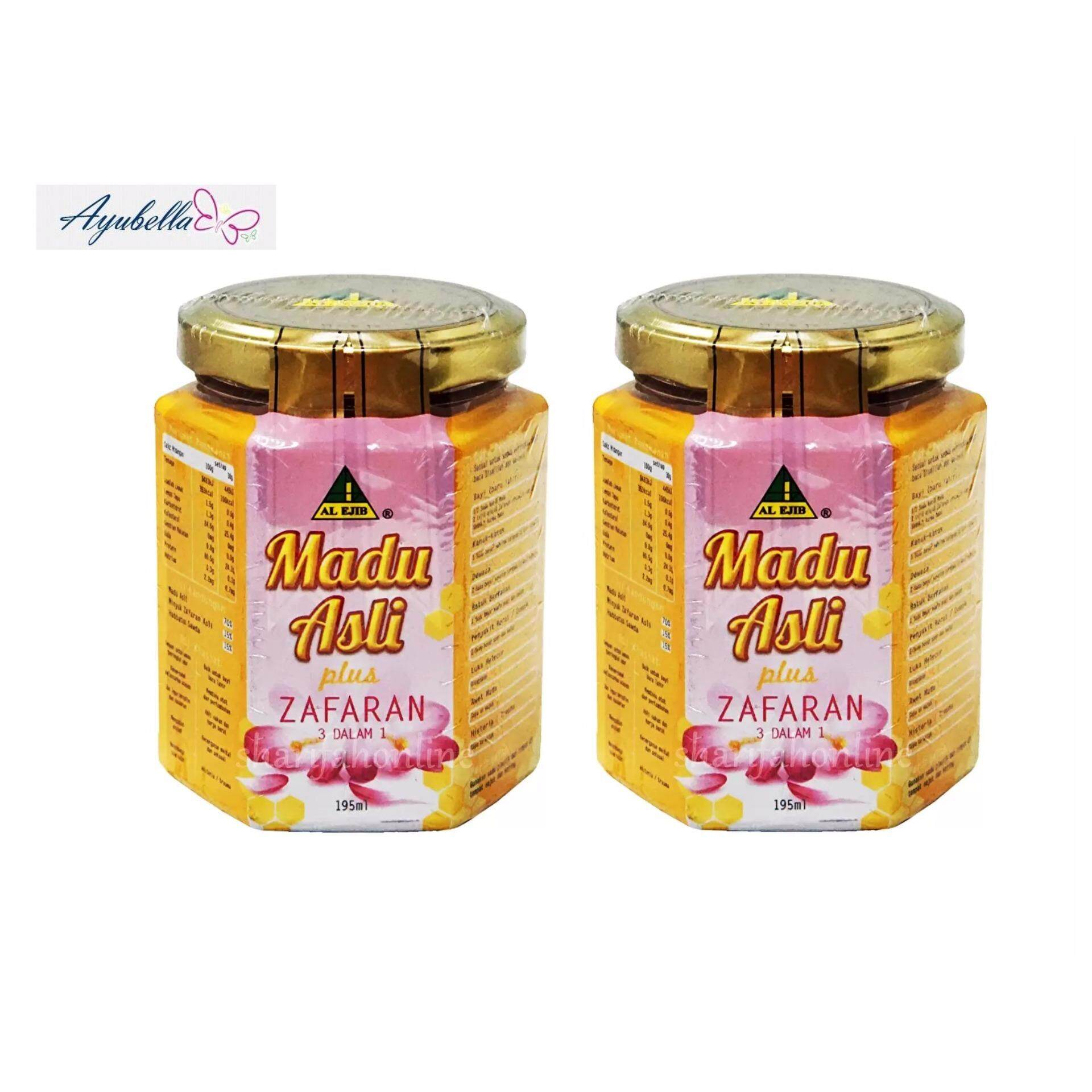 Al Ejib Madu Asli Plus Zafaran (Pure Honey) 3 in 1 x 2