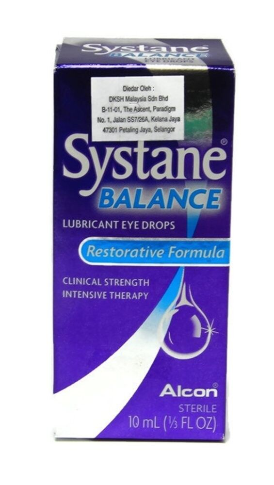 Alcon Systane Balance Lubricant Eye Drops 10ml(Exp Date12/2018)