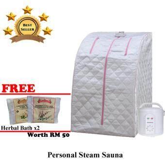 AMGO Portable Steam Sauna Only [FREE 2 PACK HERBAL BATH POWDER]