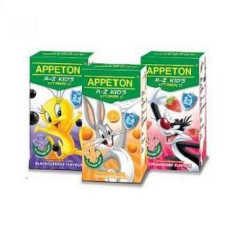 Appeton A-Z Kid's Vitamin C 100's X 3(Orange,Strawberry,Blackcurrant)