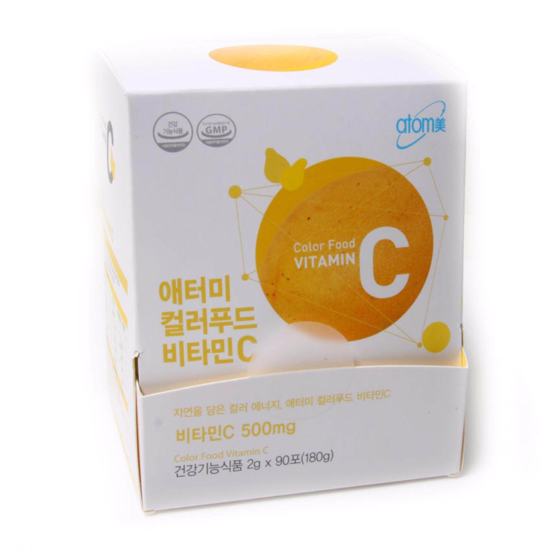 ATOMY Color Food Vitamin C (Set of 2) 500mg 2g x 90 packets (180g) Sticks