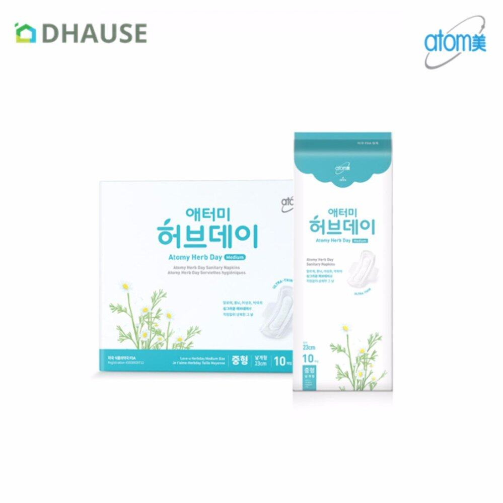 ATOMY Herbal Fresh Sanitary Napkin Day Use Medium 23cm (40pcs/set)