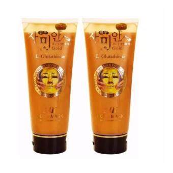 Harga BEST PRICE : 2 PCS Korea 24k Gold Mask L-Glutathione (220ml)